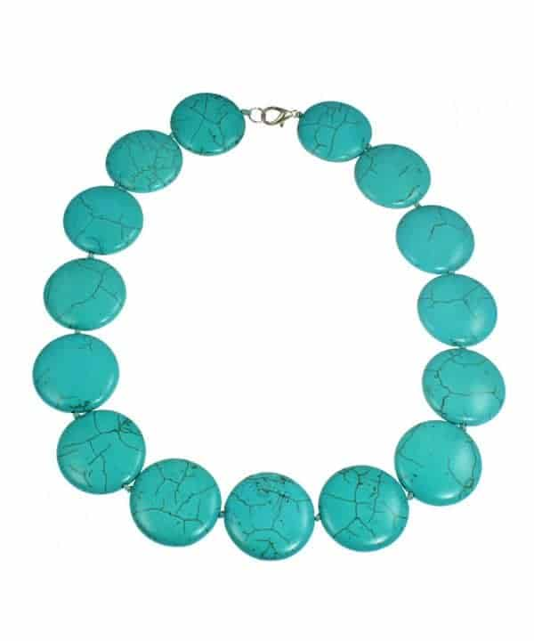 turquoise circular round necklace