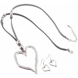 large heart jewellery set
