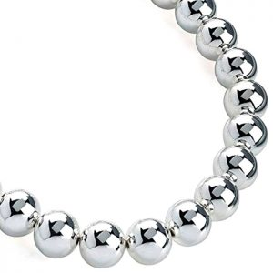 Silver colour chunky ball bead choker necklace a costume jewellery design