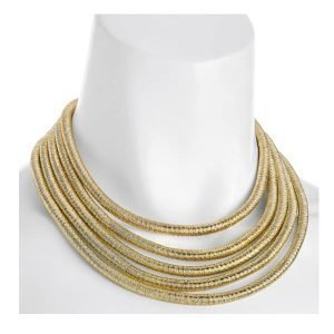 gold rope short necklace