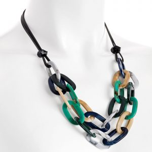 multi colour choker necklace