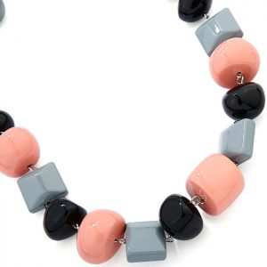 fashion jewelry chunky bead irregular shape acrylic resin choker necklace