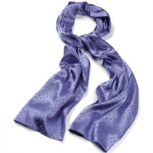 Blue satin style spotted print fashion scarf
