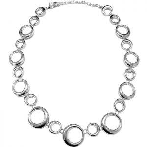 fashion jewellery silver colour irregular shape hoop choker necklace