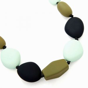 Chunky with a rubber texture pebble style choker necklace