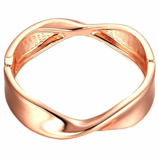 costume jewellery rose gold twisted bangle