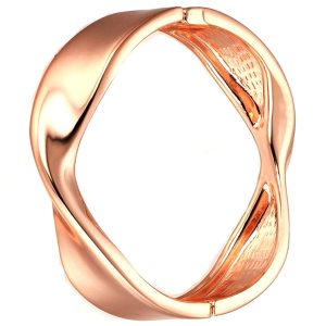 costume jewellery rose gold colour twisted bangle