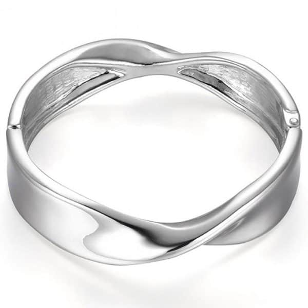 costume jewellery silver twisted bangle