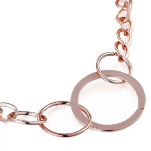Costume jewellery rose gold colour loop ring choker necklace