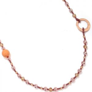 Lagenlook costume jewellery beaded long fitting necklace