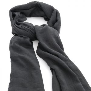 Grey colour crinkle finish scarf