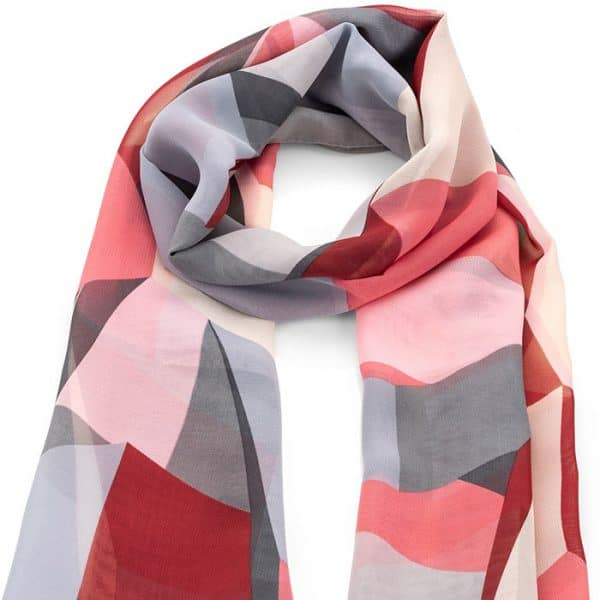 Colourful pastel colour abstract design scarf