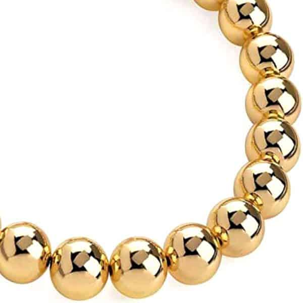 Gold colour chunky large ball bead choker necklace