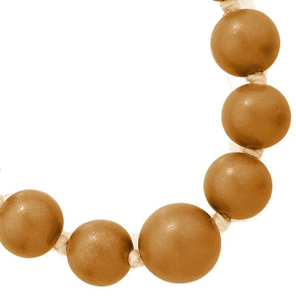 Costume jewellery large wooden tribal chunky beige colour bead graduated necklace