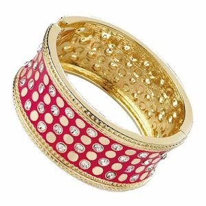 Unique diamante ladies enamel fashion bangle