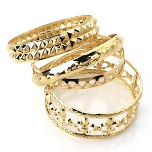 4 piece gold style bangle collection