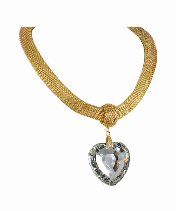 Large chunky heart necklace