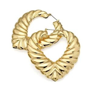Huge women's heart large bamboo fashion gold plated costume jewellery hoop earring design
