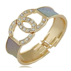 Diamante set fashion sparkling style gold bangle