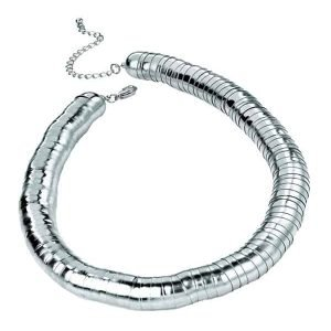 Fashion jewellery silver colour chunky multiple link short fitting choker necklace