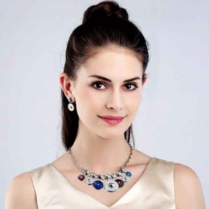 Beautiful quality circle design necklace and earring jewellery set