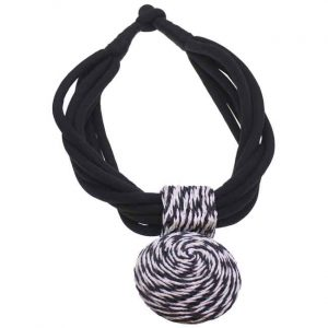Spiral stitched tribal jewellery large pendant choker necklace