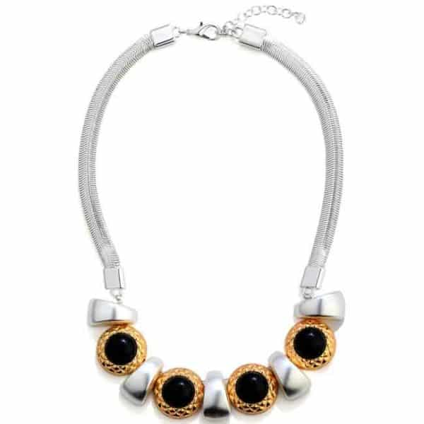 A unique chunky looking statement choker necklace