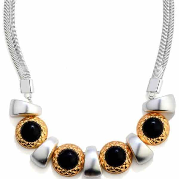A unique chunky looking statement necklace